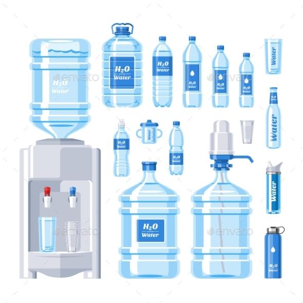 590x590 Water Bottle Vector Water Drink Liquid Aqua By Pantimetrok