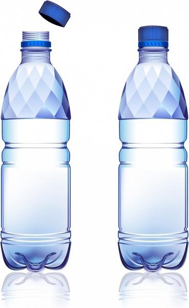 369x600 Water Bottle Free Vector In Adobe Illustrator Ai ( .ai