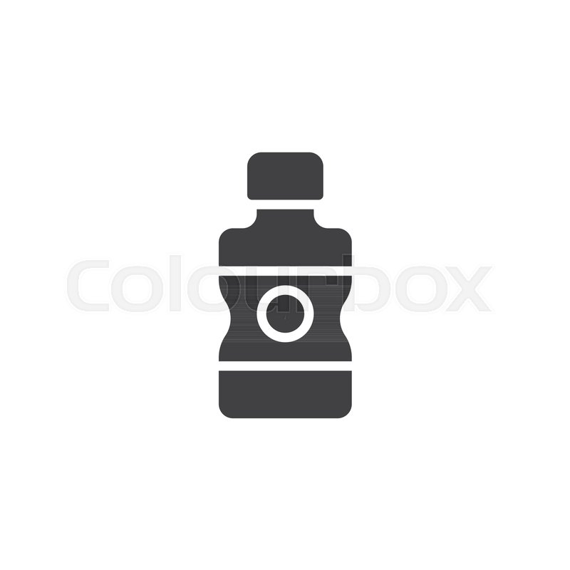 800x800 Water Bottle Vector Icon. Filled Flat Sign For Mobile Concept And