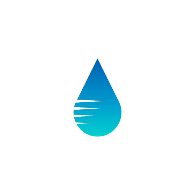 640x640 Blue Water Drop Logo Icon Template Vector, Business, Water