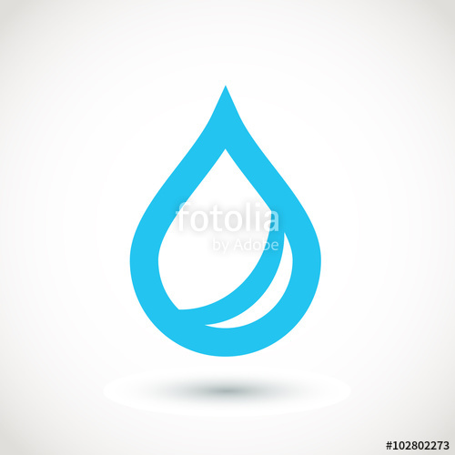 500x500 Blue Water Drop Logo. Vector Stock Image And Royalty Free Vector