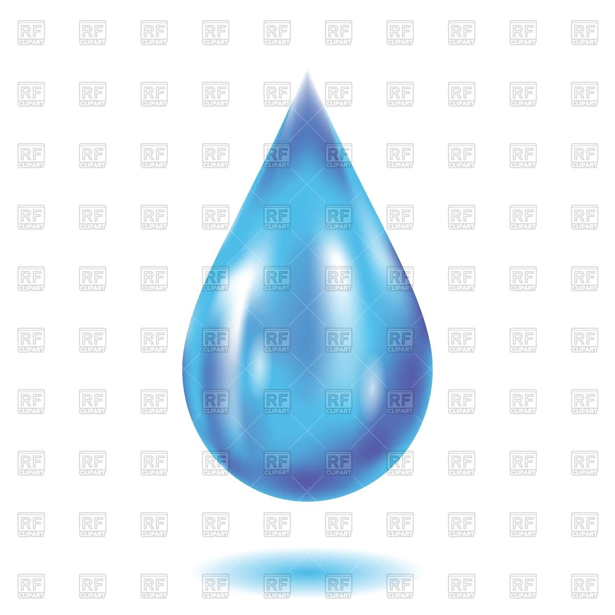 1200x1200 Water Drop On A White Background Vector Image Vector Artwork Of