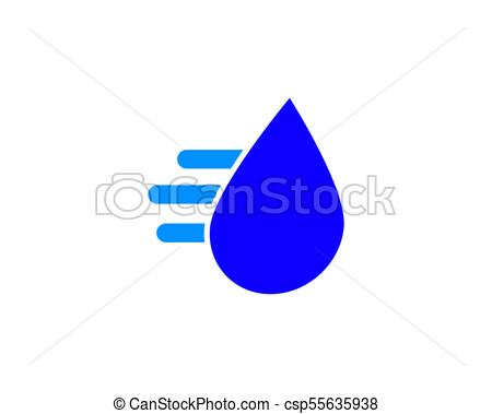 450x379 Fast Water Drop Logo. Is A Symbol Related To Nature That Is Water.
