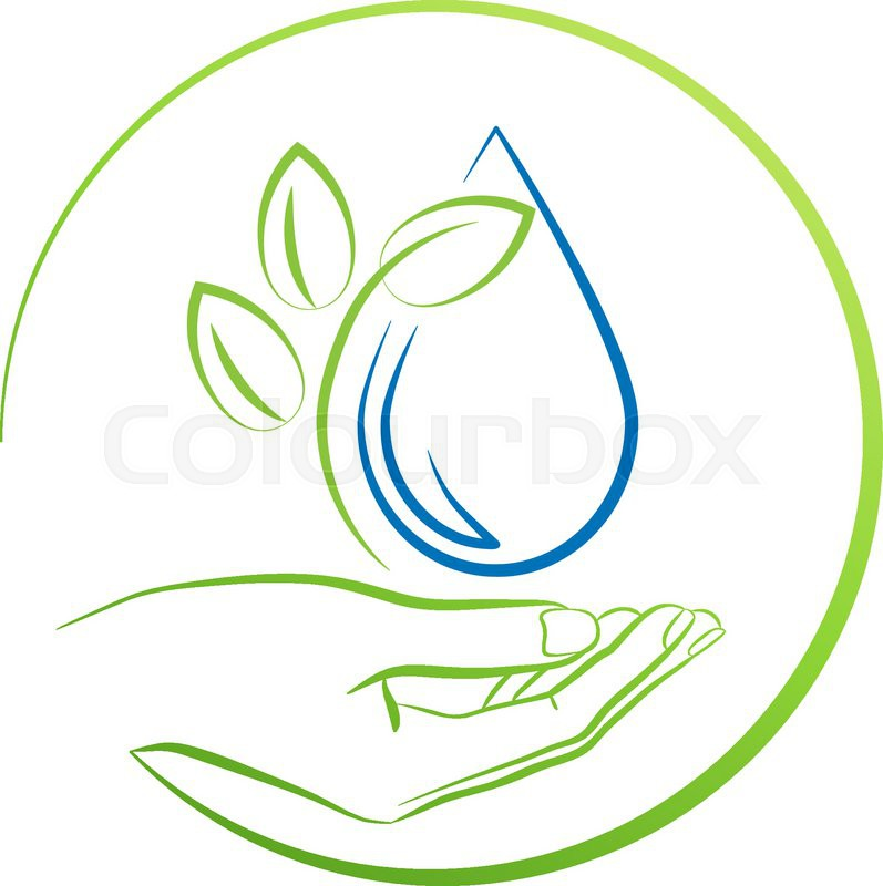 797x800 Hand, Leaf And Water Drop, Logo Concept Vector Illustration