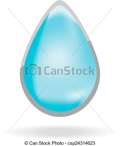 387x470 Water Drop. Vector Illustration In The Form Of Drops Of Water .