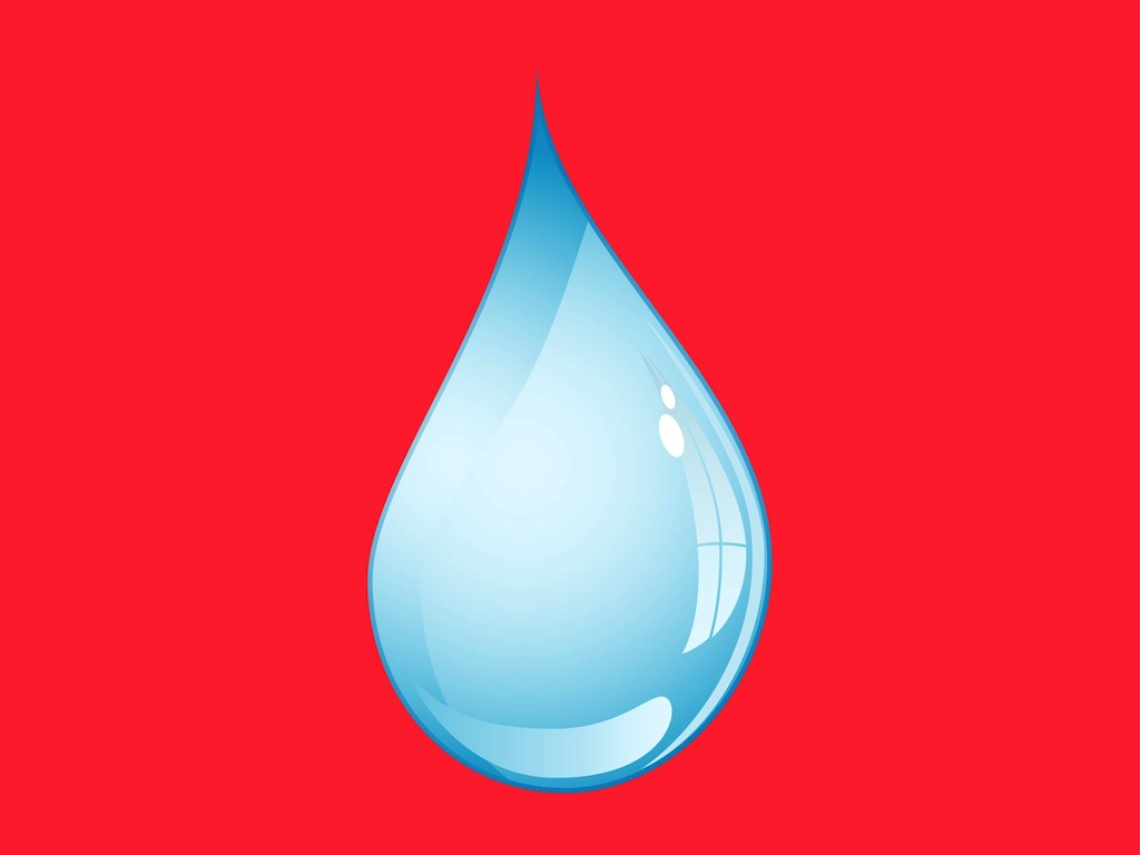 1024x768 Vector Water Drop Shape