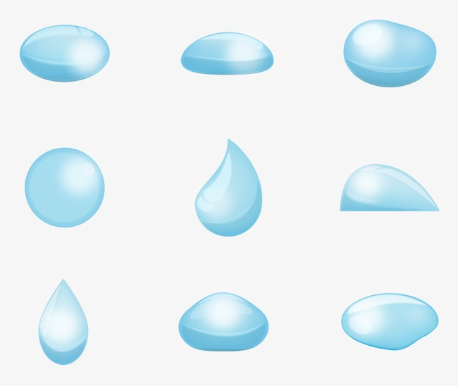 650x548 Blue Water Drop Design Vector, Blue Vector, Water Vector, Drop