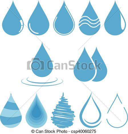 449x470 Water Drop Vector Illustration. Template For Logo Design. Water