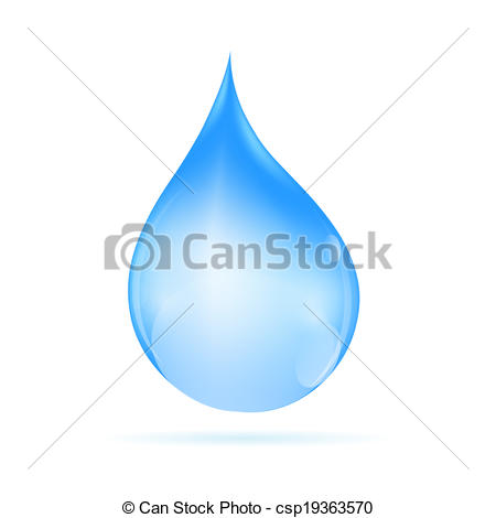 450x470 Water Drop Vector Illustration.