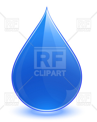 319x400 Falling Water Drop Vector Image Vector Artwork Of Icons And