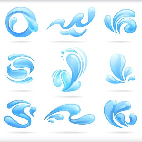 456x455 Free Splash Of Blue Water Drops Vector Illustratio Clipart And