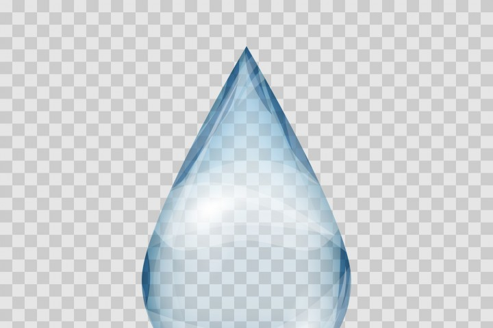 720x479 Falling Transparent Water Drop Vector Isolated By Microvector