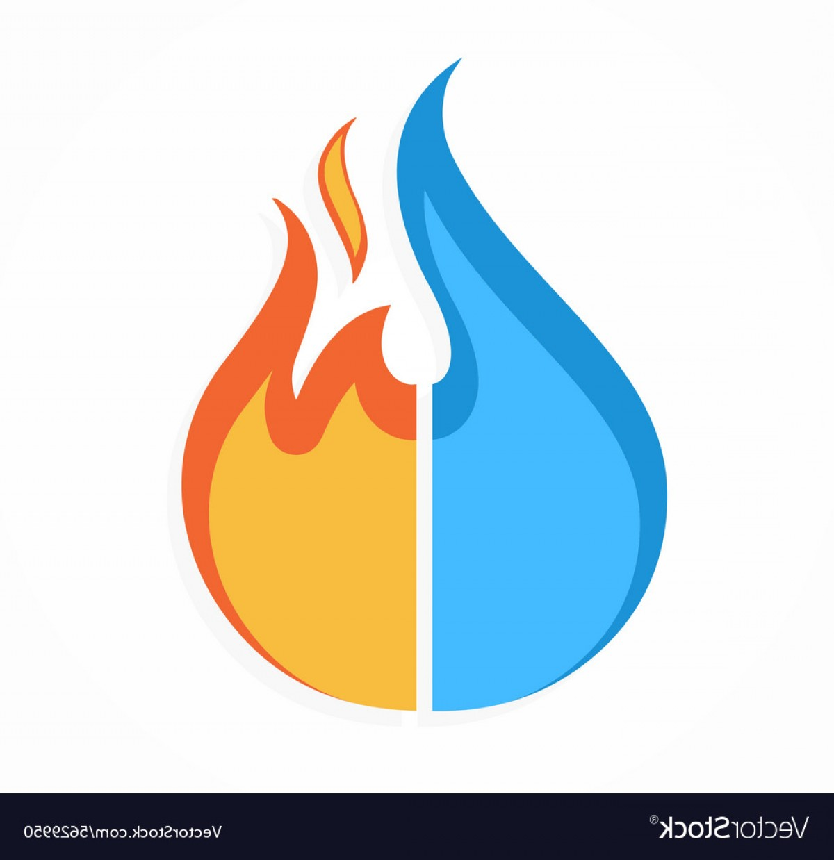 1200x1238 Fire And Water Logo Or Icon Vector Shopatcloth