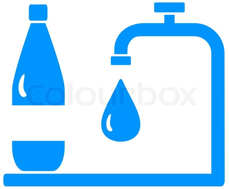 800x662 Icon With Bottle, Tap And Drop Silhouette
