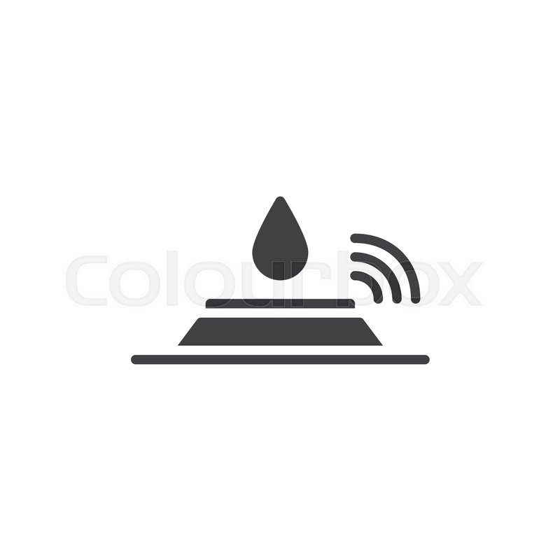 800x800 Sensor And Water Drop Icon Vector, Filled Flat Sign, Solid