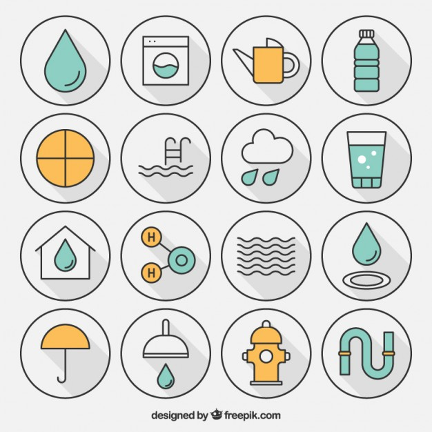 626x626 Variety Of Water Icon Vector Free Download