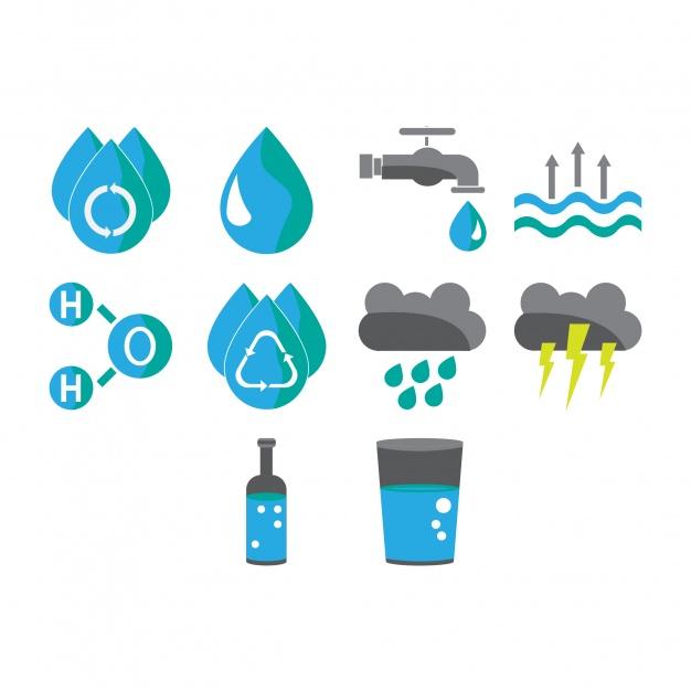 626x626 Water Icons Collection Vector Free Download