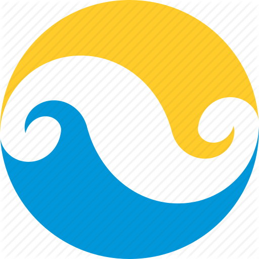 512x512 Circle, Infinity, Logo, Summer, Sun, Water, Wave Icon