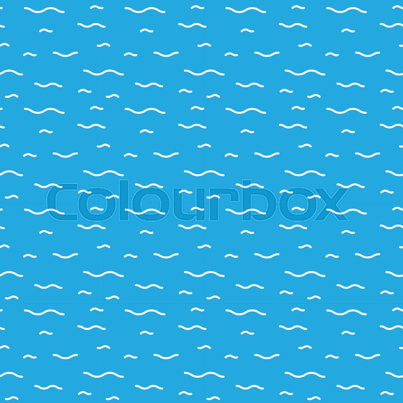800x800 Seamless Textures Of Cartoon Water Surface. Vector Pattern For