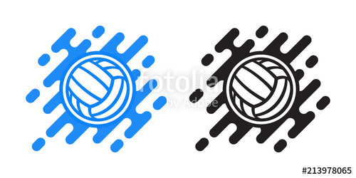 500x250 Volleyball Ball Vector Icon Isolated On White. Water Polo Ball