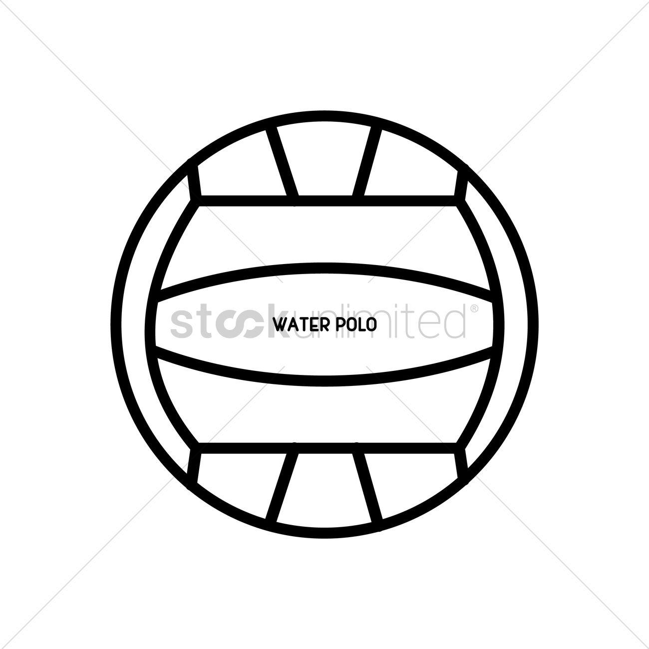 1300x1300 Water Polo Ball Vector Image