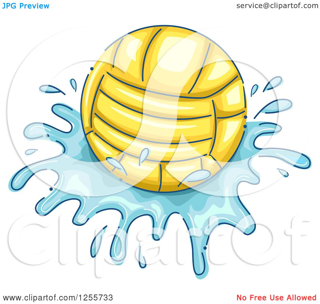 1080x1024 Clipart Of A Water Polo Ball And Splash