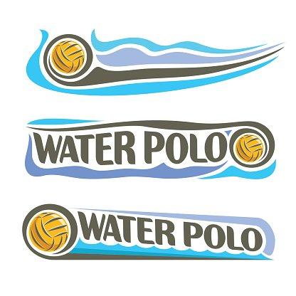 416x416 Vector Abstract Logo For Water Polo Ball Stock Vectors