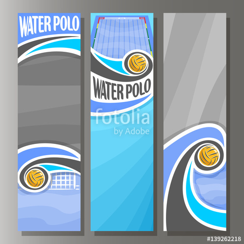 500x500 Vector Vertical Banners For Water Polo 3 Template For Title Text
