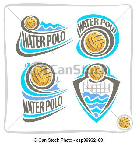 450x470 Vector Logo For Water Polo. Vector Abstract Logo Icon For Water