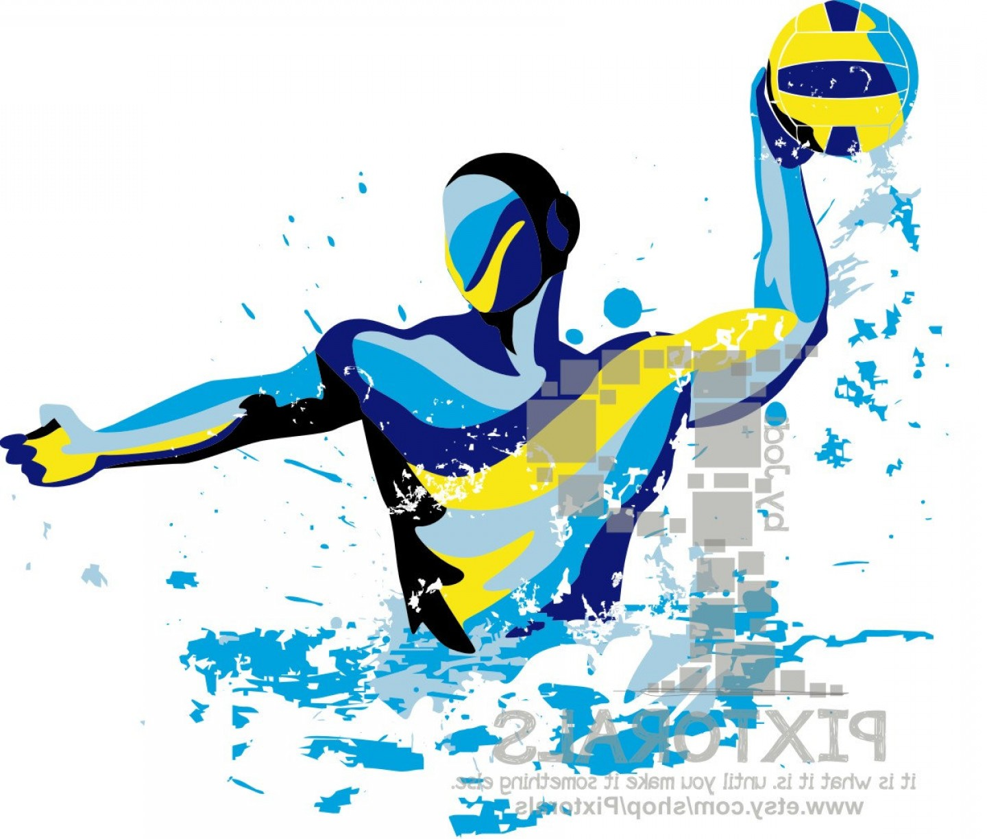 1440x1224 Water Polo Player Vector Set Of Eps Jpeg Arenawp