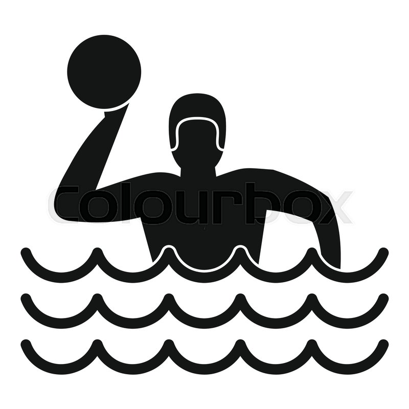 800x800 Water Polo Icon. Simple Illustration Of Water Polo Vector Icon For