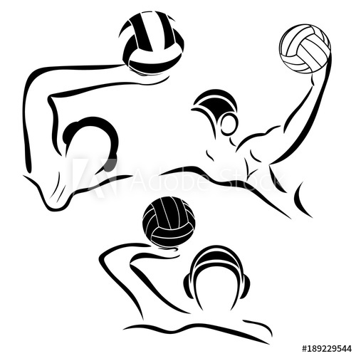 500x500 Water Polo Player. Water Polo Vector Image. Gate, Swimmer, Ball