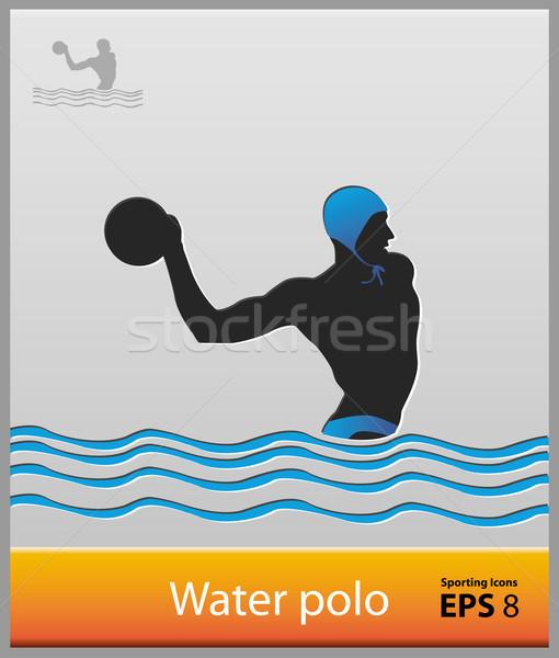 510x600 Water Polo Vector Illustration Abdulsatarid ( 1736476) Stockfresh