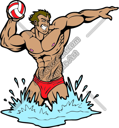 465x500 Waterpolo02 Clipart And Vectorart Sports