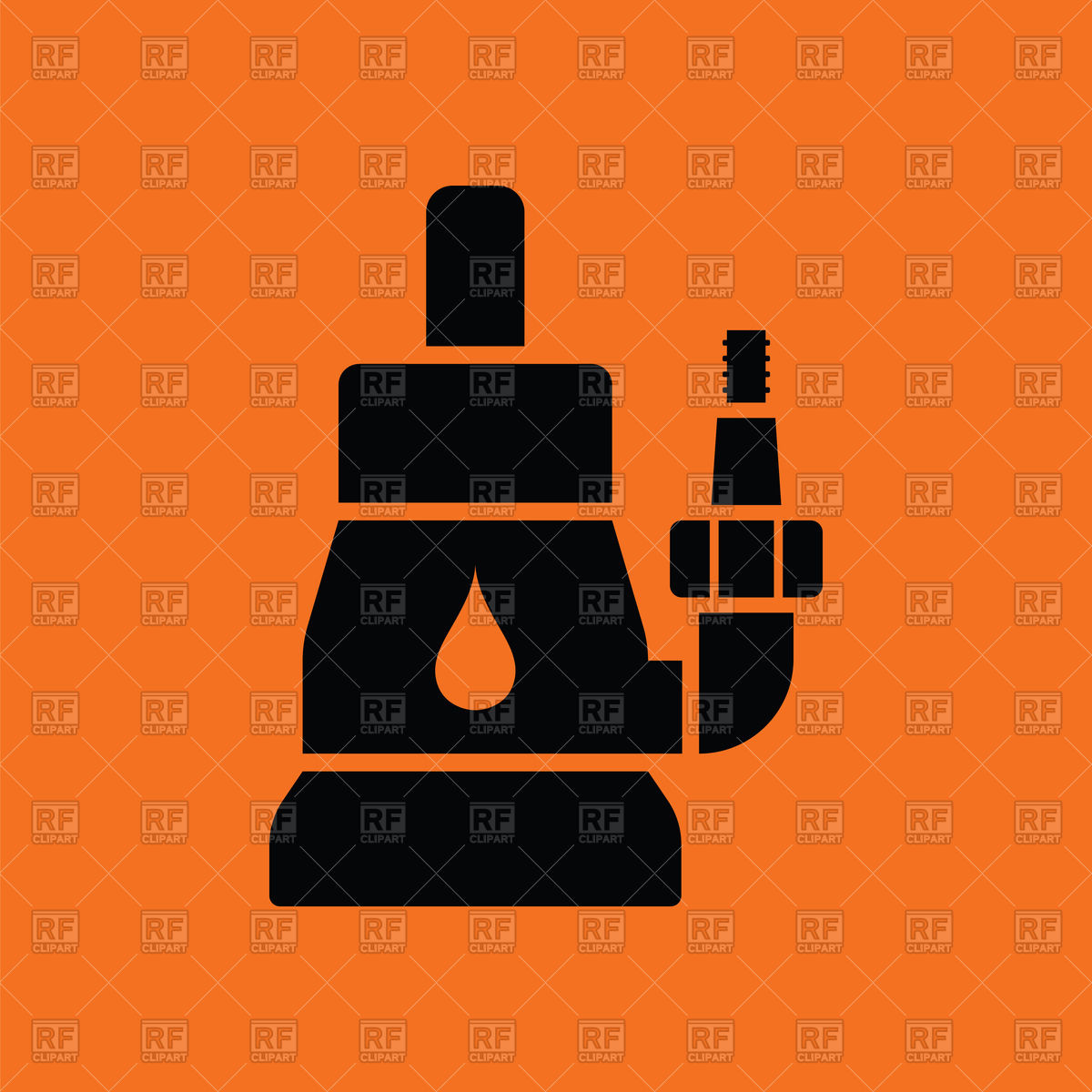1200x1200 Submersible Water Pump On Orange Background Vector Image Vector