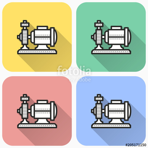 500x500 Vector Water Pump Icon Stock Image And Royalty Free Vector Files