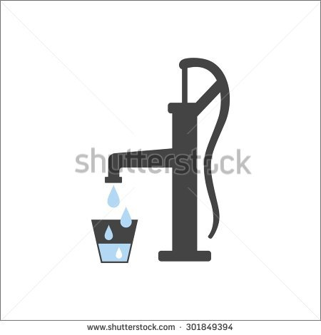 450x470 Child Hand Water Pump Clipart