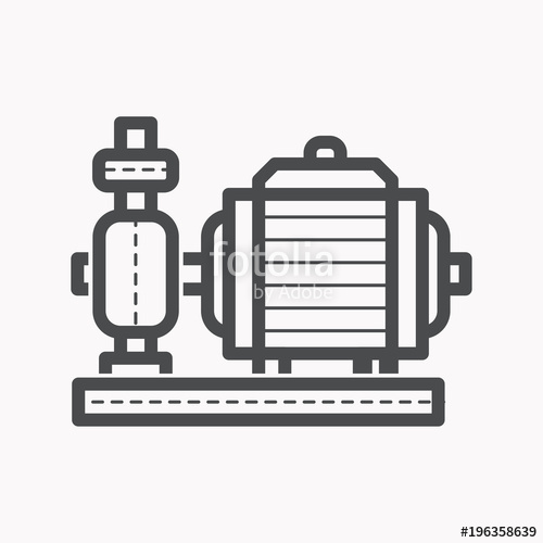 500x500 Water Pump Vector Icon. Stock Image And Royalty Free Vector Files