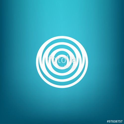 500x500 Vector Minimalistic Linear Water Ripple Circles Concentric Round
