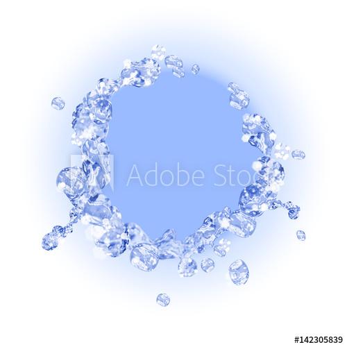 500x500 Realistic Water Splash. Vector Illustration.