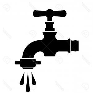 300x300 Photostock Vector Vector Black Retro Water Faucet Tap Symbol