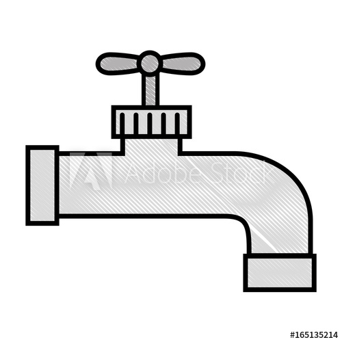 500x500 Water Tap Icon Over White Background Vector Illustration
