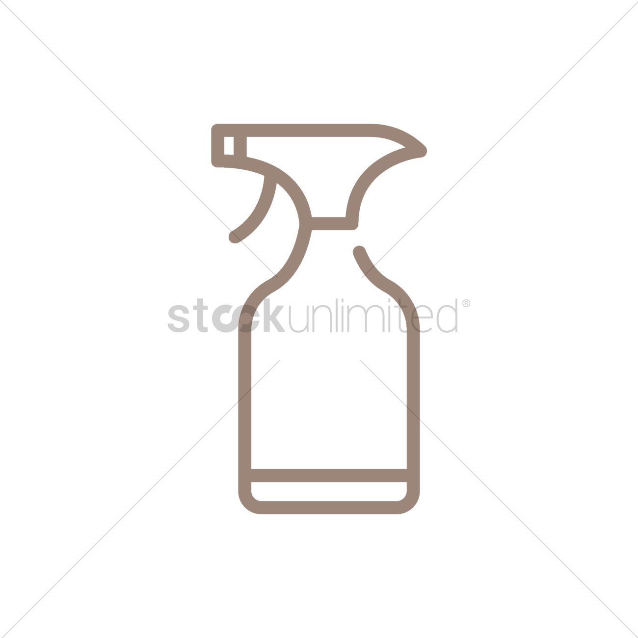 1300x1300 Water Spray Bottle Vector Image