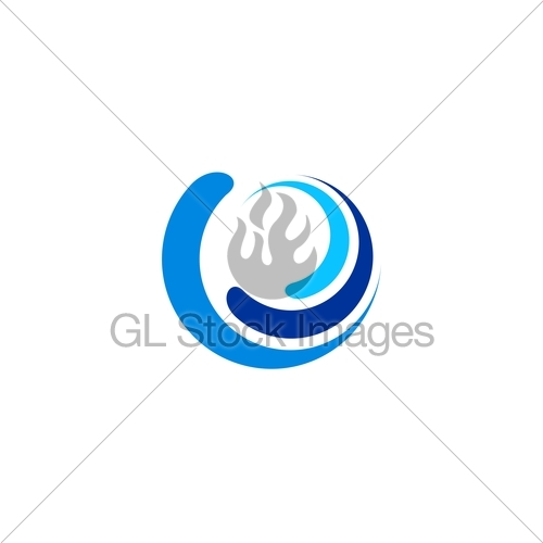 500x500 Circle, Wave, Logo, Sphere Water Blue Symbol, Swirl Wind Gl