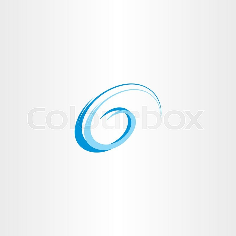 800x800 Letter G Swirl Blue Water Wave Vector Emblem Stock Vector