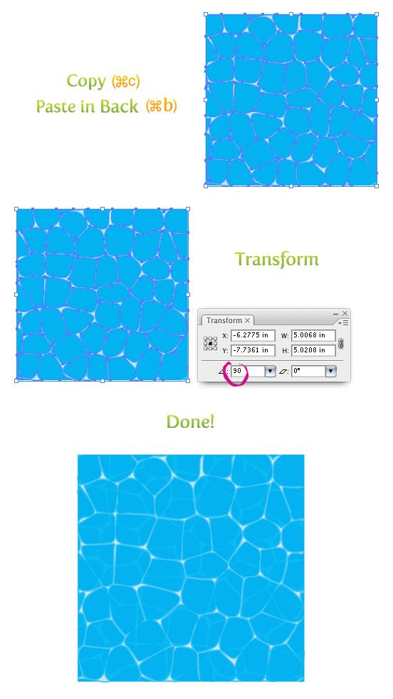 552x980 Create Water Texture In Illustrator Tutorial Drawing, Painting