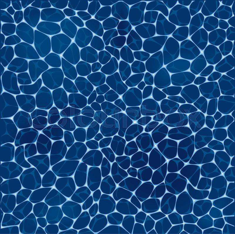 800x798 Deep Blue Sea Water Pattern. Ocean Water Surface With White Foam