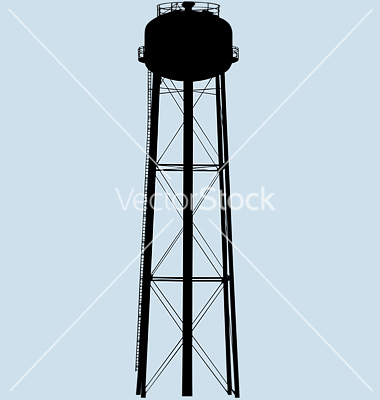 Water Tower Vector