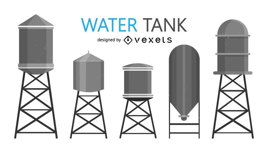 900x509 Water Tank Illustrations