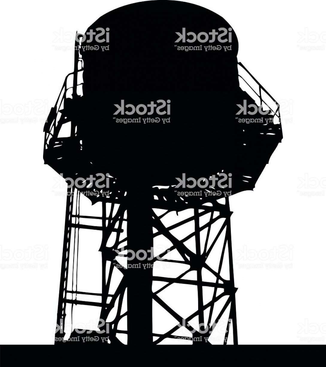 1089x1228 City Rooftop Water Tank Silhouette Vector Gm Lazttweet